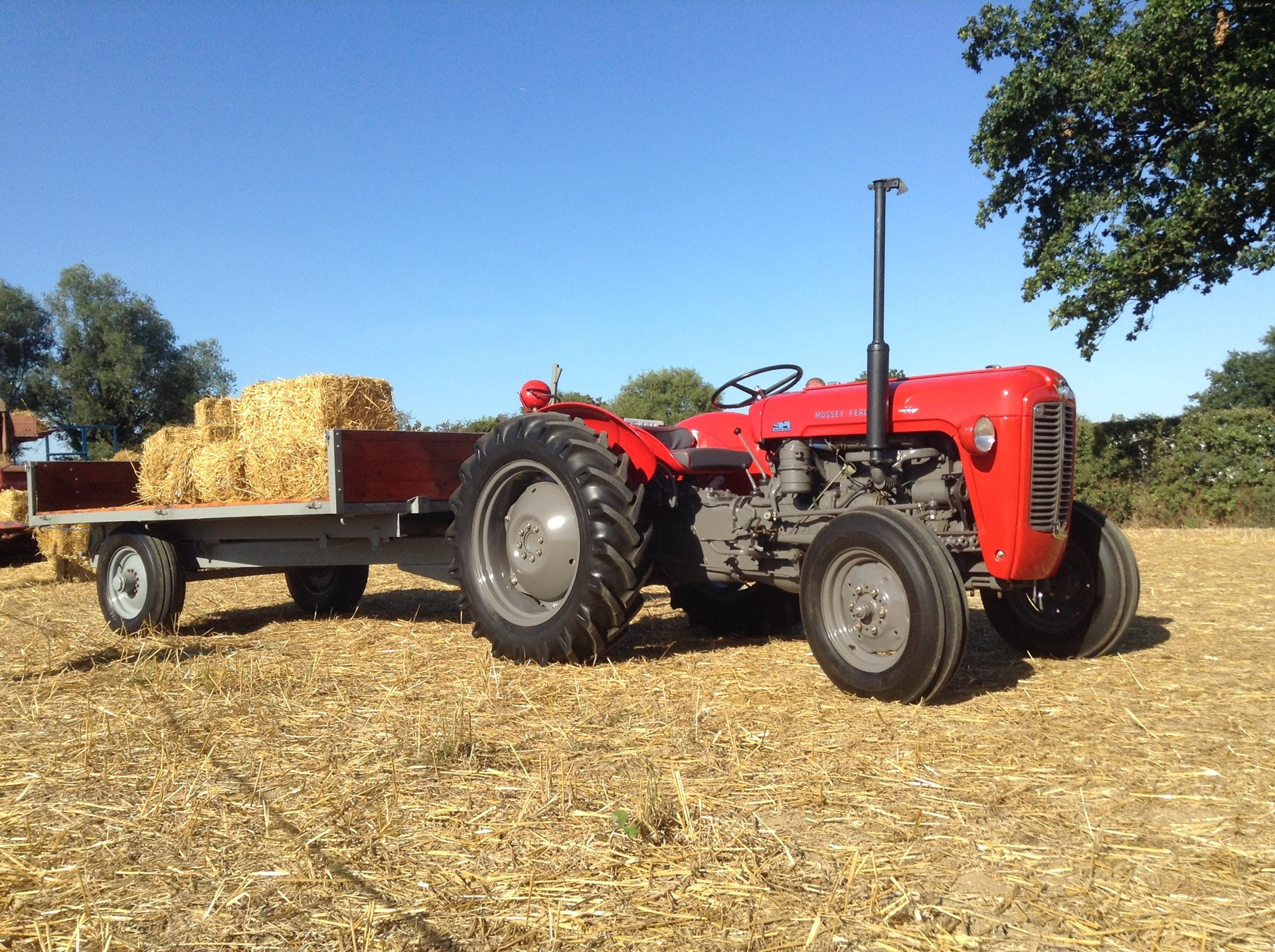 1959 Massey Ferguson tractor and trailer