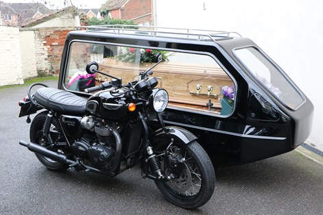 Motor Bike and Sidecar Hearse