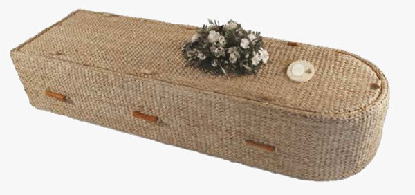 Water Hyacinth Coffin - naturally green